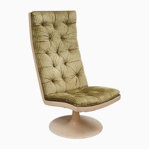 Green Velvet Lounge Chair, 1970s