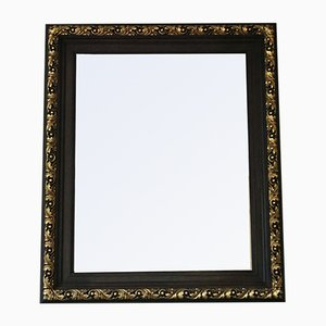 Large Antique Gilt and Oak Wall Mirror