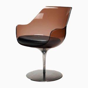 Champagne Sessel mit Sitzschale aus Plexiglas von Erwine & Estelle Laverne, 1950er