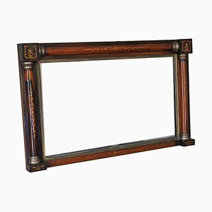 Antique Inlaid Rosewood Gilt Wall Mirror