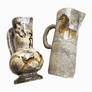 Vase et Carafe par André Quiron, 1950s