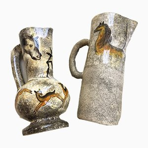 Vases and Jug Set by André Quiron, 1950s