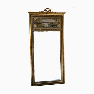 Antique Full-Length Gilt Trumeau Mirror