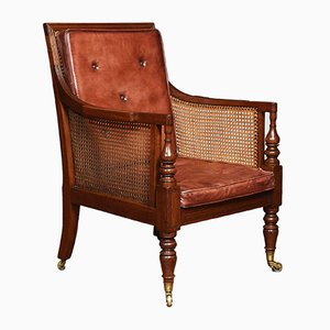 Antique Regency Mahogany Bergere Armchair
