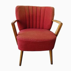 Red Cocktail Armchair, 1950s