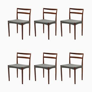 Danish Rosewood Dining Chairs by Harry Østergaard for Randers Møbelfabrik, 1960s, Set of 6