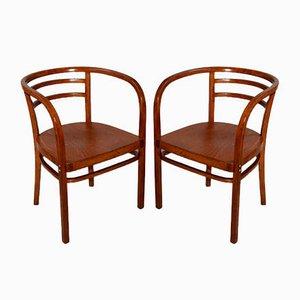 Antike Beistellstühle von Otto Wagner für Thonet, 2er Set