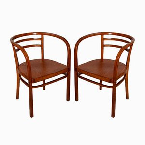 Antique Side Chairs by Otto Wagner for Thonet, Set of 2