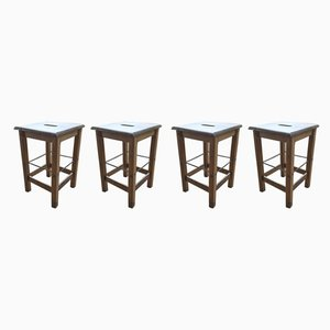 Stools, 1950s, Set of 4