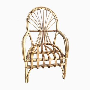 Rattan Childrens Chair, 1960s