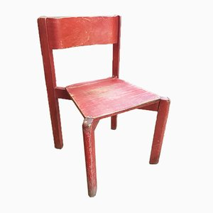 Red Childrens Chair, 1950s