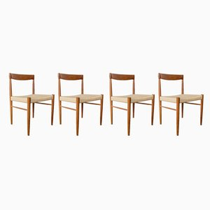 Danish Teak Dining Chairs by H. W. Klein for Bramin, 1960s, Set of 4