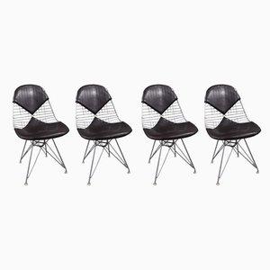 Sillas de comedor de acero de Charles & Ray Eames para Herman Miller, años 70. Juego de 4