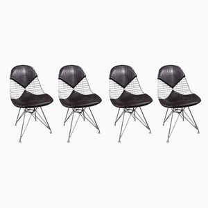 Steel Wire Dining Chairs by Charles & Ray Eames for Herman Miller, 1970s, Set of 4