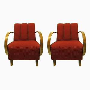 Art Deco Bentwood Armchairs, 1940s, Set of 2