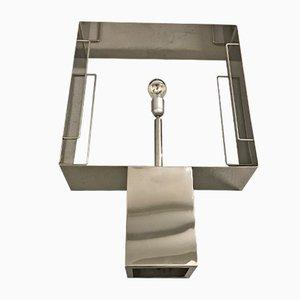 Lampada da tavolo grande in acciaio, anni '70