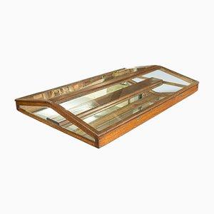 Antike Thekenvitrine aus Eiche & Glas