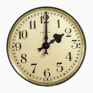 Vintage Uhr aus Messing von Synchronome