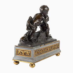 Antique Bronze and Marble Sculpture