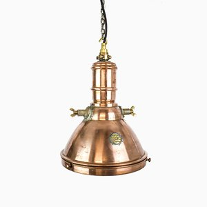 Copper Ceiling Lamp from GEC, 1920s