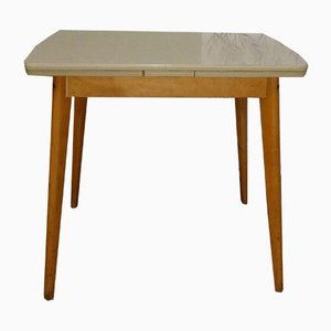 Mid-Century Formica & Wood Dining Table