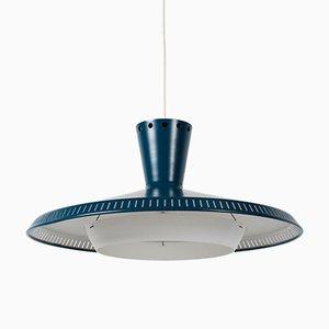 Lampe à Suspension Modèle NB93 Industrielle par Louis C. Kalff pour Philips, 1950s