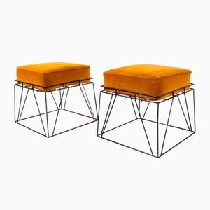Wire Stools by Verner Panton, 1960s, Set of 2