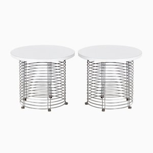 Wire Side Tables by Verner Panton for Fritz Hansen, 1970s, Set of 2