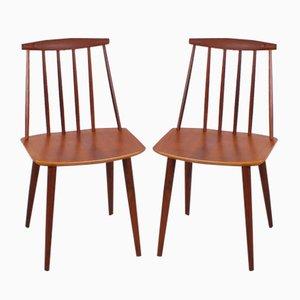 Vintage Beistellstühle aus Teak von Folke Palsson für FDB, 2er Set