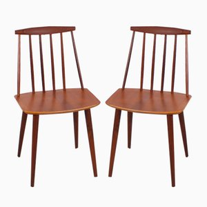 Vintage Teak Side Chairs by Folke Palsson for FDB, Set of 2