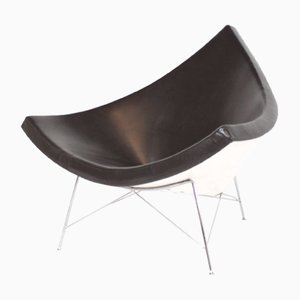 Brown Leather Armchair by George Nelson for Vitra, 1950s