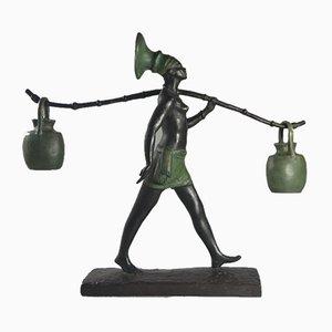 Art Déco Bronzeskulptur von Fanny Rozet, 1920er
