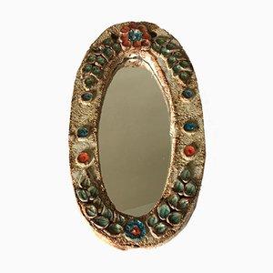 Spiegel mit Rahmen aus Keramik, 1960er