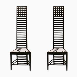 Chaises d'Appoint Mid-Century en Frêne par Charles Rennie Mackintosh, Italie, Set de 2