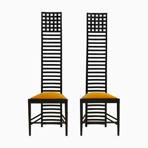Italienische Mid-Century Beistellstühle aus Eschenholz von Charles Rennie Mackintosh, 2er Set