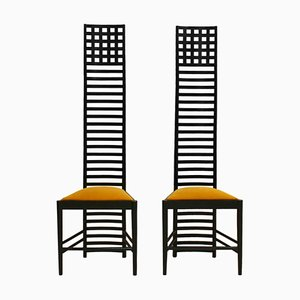 Mid-Century Italian Ash Side Chairs by Charles Rennie Mackintosh, Set of 2
