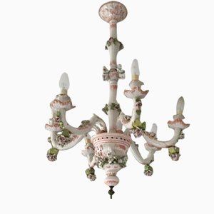 Vintage Deckenlampe aus Keramik