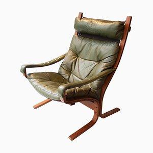Chaise Lounge de palisandro y cuero de Ingmar Relling, años 60