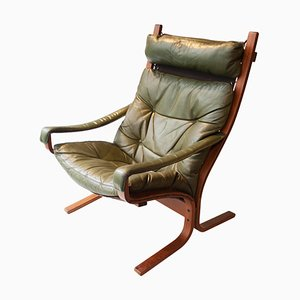 Rosewood and Leather Lounge Chair from Ingmar Relling, 1960s