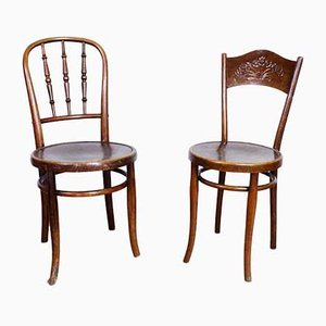 Vintage Chairs Set by Thonet and Fischel, 1930s, Set of 2