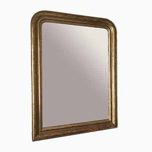 Antiker Spiegel mit vergoldetem & goldenem Rahmen