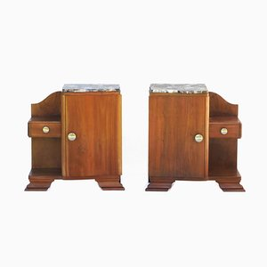 French Art Deco Cabinets, 1930s, Set of 2