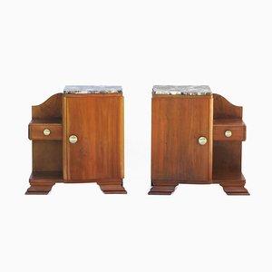 Muebles franceses Art Déco, años 30. Juego de 2