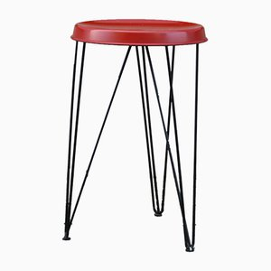 Red Stool by Tjerk Reijenga for Pilastro, 1960s