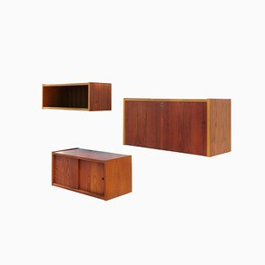 Wall Units by Preben Sorenson for Randers Møbelfabrik, 1960s, Set of 3