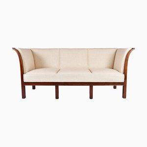 Vintage Art Déco 3-Sitzer Sofa mit Gestell aus Mahagoni von Jacob Kjær