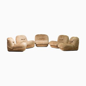 Sofas by Alberto Rosselli for Saporiti Italia, 1970s, Set of 5