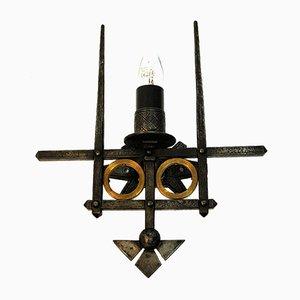 Lampade da parete brutaliste in ferro di Karl Bruno Bilgrei per Karl Bruno Bilgrei, anni '70, set di 2