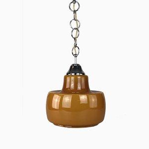 Lampada da soffitto Mid-Century in metallo e vetro di Peill & Putzler