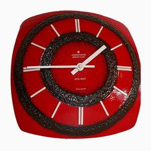 German Ceramic Clock from Junghans, 1970s